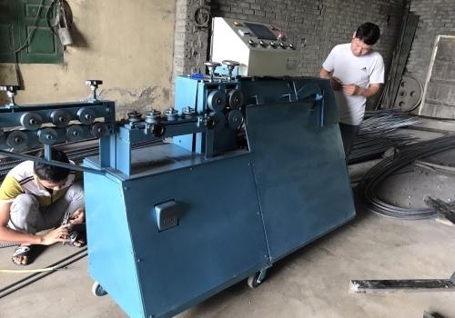 Máy bẻ đai sắt về Gò Công