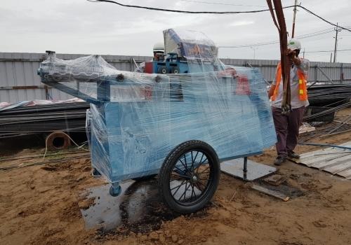 Máy bẻ đai sắt tự động về KCN Hiệp Phước
